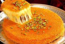 صورة طريقة عمل الكنافة النابلسية بالجبنة الموتزاريلا في المنزل