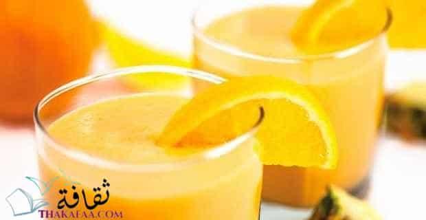 مشروبات رمضان و عصائر رمضانية-مشروب البرتقال والأناناس