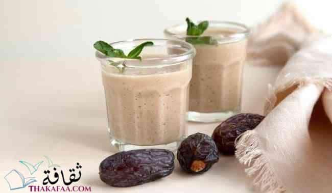 شروب التمر واللبن - مشروبات رمضان و عصائر رمضانية