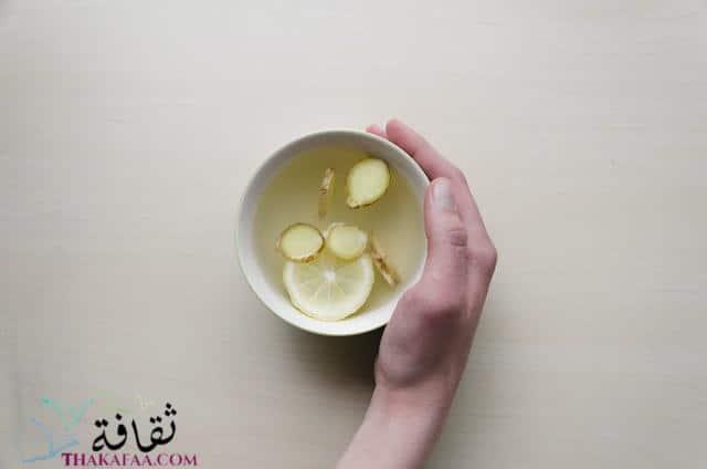 مشروبات رمضان و عصائر رمضانية-مشروب الزنجبيل بالليمون