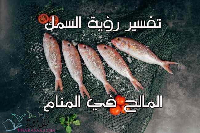 تفسير رؤية السمك المالح في المنام