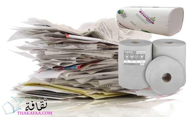ورق النفايات في صناعة المناديل الورقية