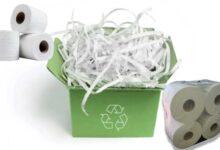 صورة ورق النفايات في صناعة المناديل الورقية